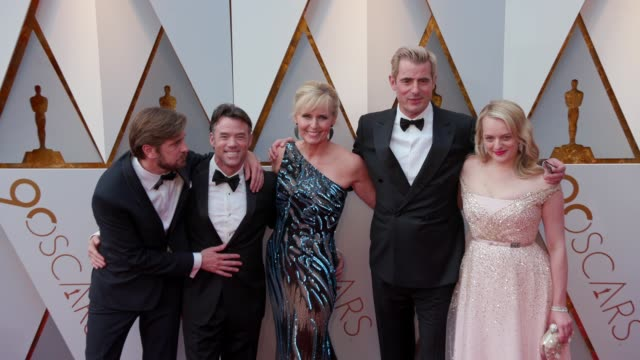 Terry Notary Annica Liljeblad Claes Bang Elisabeth Moss and Ruben Ostlund at the 90th Academy Awards Arrivals at Dolby Theatre on March 04 2018 in...