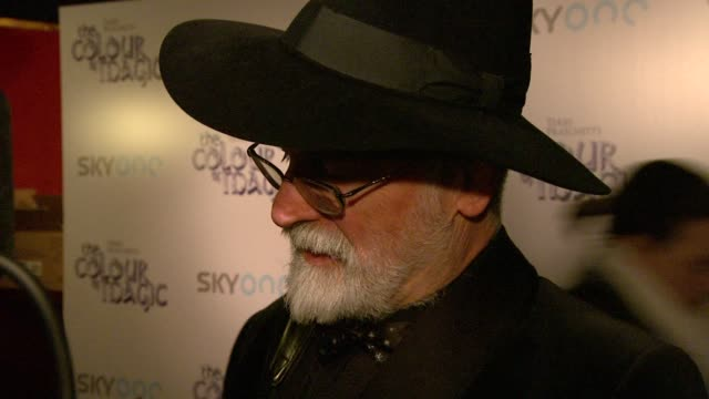 Terry Pratchett at the The Colour of Magic Premiere at Curzon Mayfair in London on March 3 2008