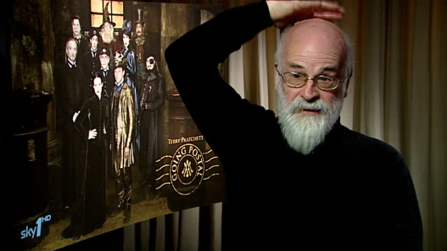 terry pratchett interview pratchett interview sot on being involved in casting the programme / on claire foy and charles dance / on pca hich he has... - atrophy stock videos & royalty-free footage