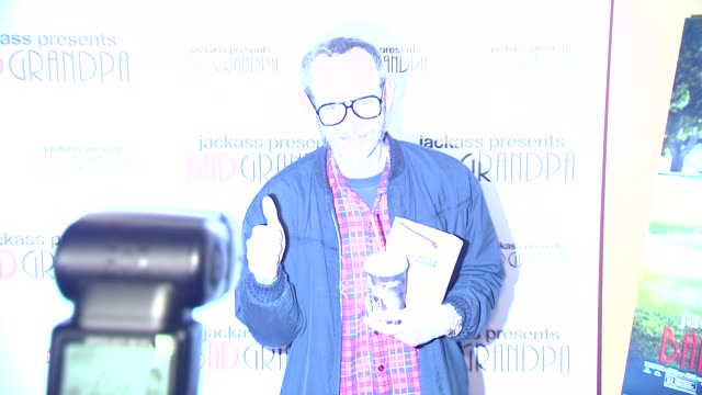 Terry Richardson at Jackass Presents Bad Grandpa New York Special Screening at Sunshine Landmark New York NY on 10/21/13 in New York NY