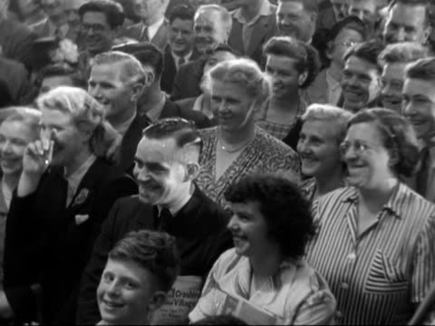 terry thomas presents a television set to a competition winner at the national radio show at earls court. - earls court stock videos & royalty-free footage