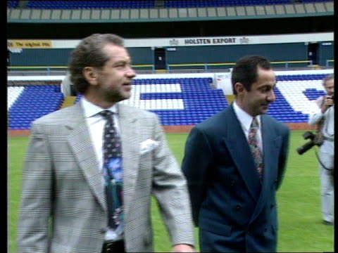 terry venables allegations/ardiles sacking ext white hart lane alan sugar and ossie ardiles - alan sugar stock videos and b-roll footage