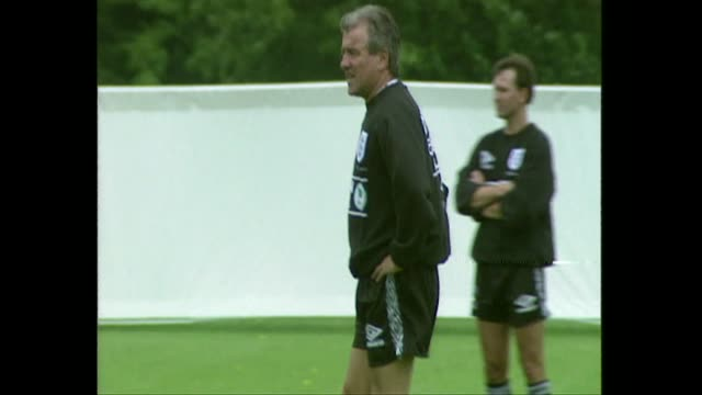 terry venables, england manager, at england team football training session for euro 96, 1996 - 1996 stock videos & royalty-free footage