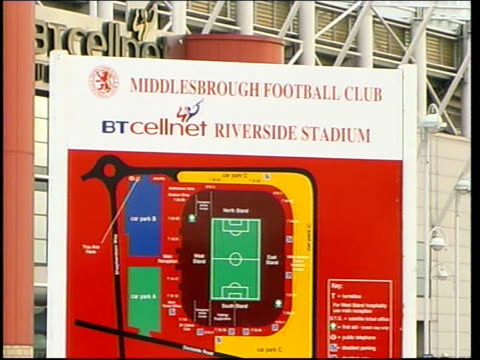 press conference / riverside stadium general views england middlesbrough riverside stadium ext general views of riverside stadium including... - middlesbrough stock videos and b-roll footage