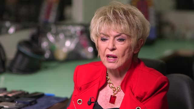gloria hunniford interview; england: london: int gloria hunniford interview sot - pays tribute to terry wogan - グロリア ハニフォード点の映像素材/bロール