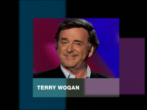 terry wogan phono interview tribute to caron keating - terry wogan stock-videos und b-roll-filmmaterial