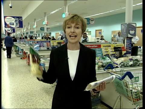 Britain's favourite supermarket ITN ENGLAND Hertfordshire Cheshunt INT i/c Woman looking at vegetables Paul Smiddy interviewed SOT Next 12 months...