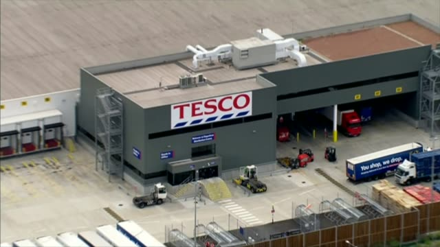 tesco to merge with booker group in 37 billion pound deal file tesco warehouse - tesco点の映像素材/bロール