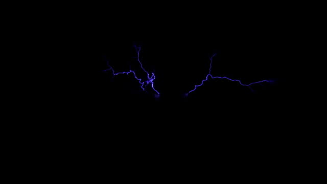 tesla coil side view of multiple arcs - tesla coil stock videos & royalty-free footage