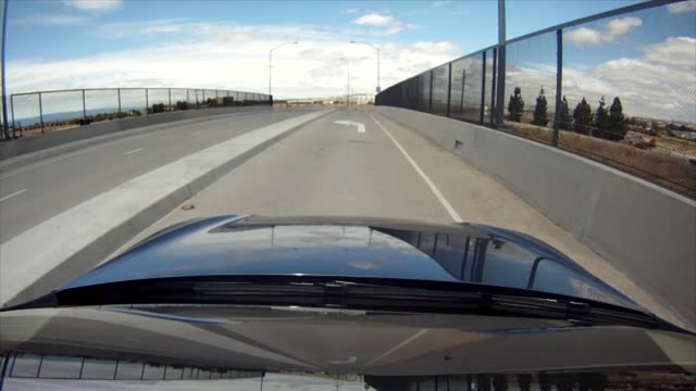 tesla model 5 point of view driving footage tesla model 5 test drive on june 22 2012 in fremont california - 試運転点の映像素材/bロール