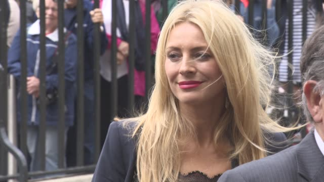 tess daly at a service of thanksgiving for the life and work of sir terry wogan at westminster abbey on september 27, 2016 in london, england. - terry wogan stock-videos und b-roll-filmmaterial