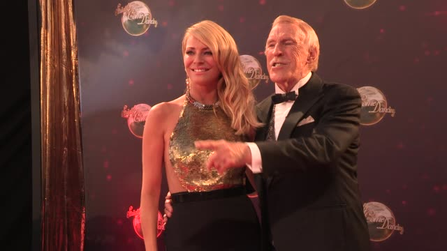 tess daly at strictly come dancing at elstree studios on september 03 2013 in borehamwood england - ハートフォードシャー点の映像素材/bロール