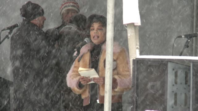speech tessa thompson at respect rally 2018 sundance film festival on january 20 2018 in park city utah - respect stock videos and b-roll footage