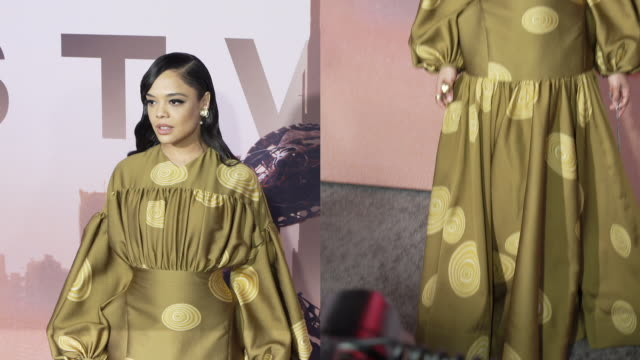 tessa thompson at the los angeles season 3 premiere of the hbo's westworld - gif stock videos & royalty-free footage