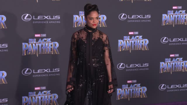 Tessa Thompson at the Marvel Studios' 'Black Panther' World Premiere at Dolby Theatre on January 29 2018 in Hollywood California