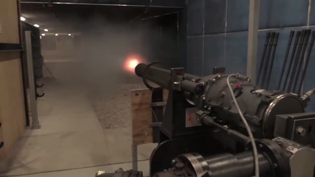 Test fire of A10 Warthog's 20mm cannon