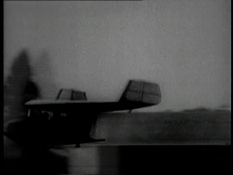 test flight of tailless airplane a flying wing / berlin germany - 1929 stock videos and b-roll footage