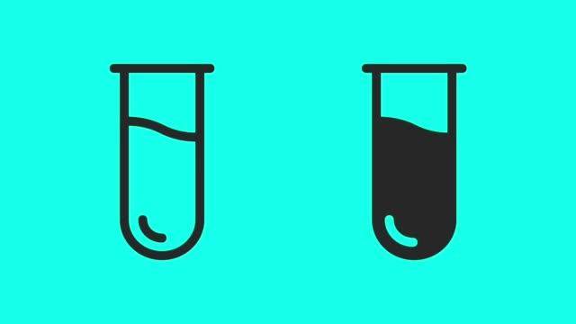 test tube - vector animate - vector stock videos & royalty-free footage