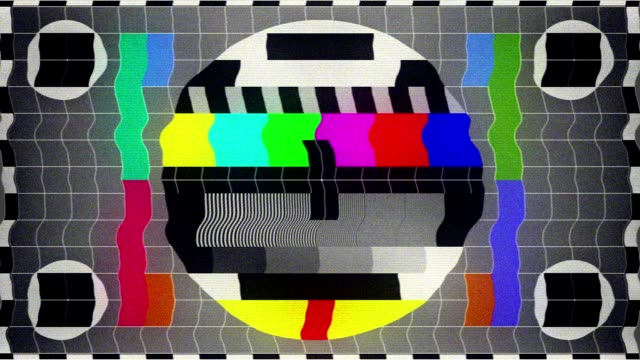tv test (loopable) - television static stock videos and b-roll footage