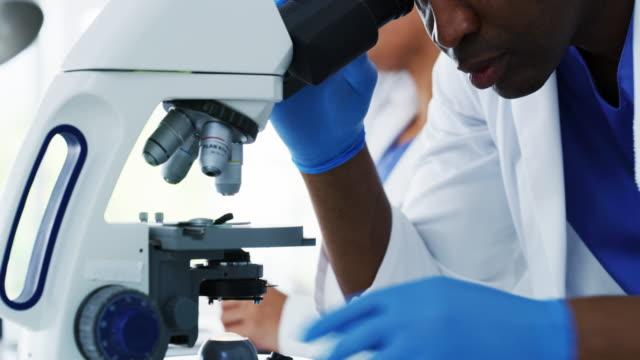 vídeos y material grabado en eventos de stock de pruebas de nuevas teorías científicas - patólogo