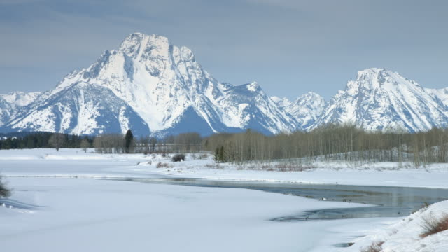 teton range and snake river in spring - grand teton stock videos & royalty-free footage
