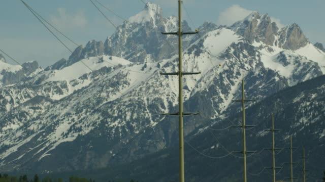 vídeos y material grabado en eventos de stock de 5k tetons and telephone poles - poste telegráfico