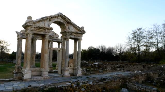 tetrapylon of aphrodisias antique city - greek mythology stock videos and b-roll footage