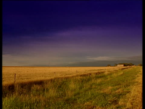 texan countryside under deep purple sky pickup passes right to left - texas stock videos & royalty-free footage