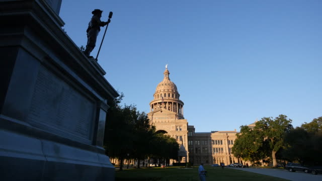 texas austin capitol and confederate statue - confederate states of america stock videos & royalty-free footage
