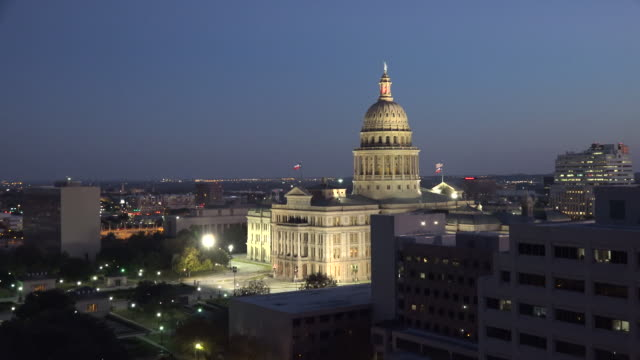 texas austin state house with evening sky - texas state capitol building stock videos & royalty-free footage