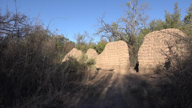 texas big bend adobe ruins sam nail ranch - adobe bildbanksvideor och videomaterial från bakom kulisserna