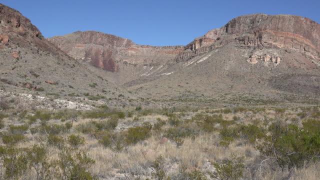 Texas Big Bend desert mesa scene pan left