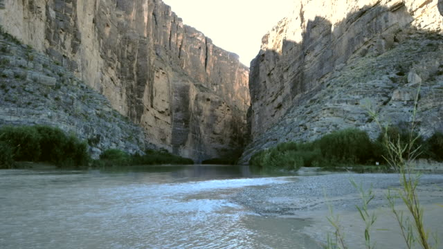 Texas Big Bend Santa Elena Canyon with Rio Grande