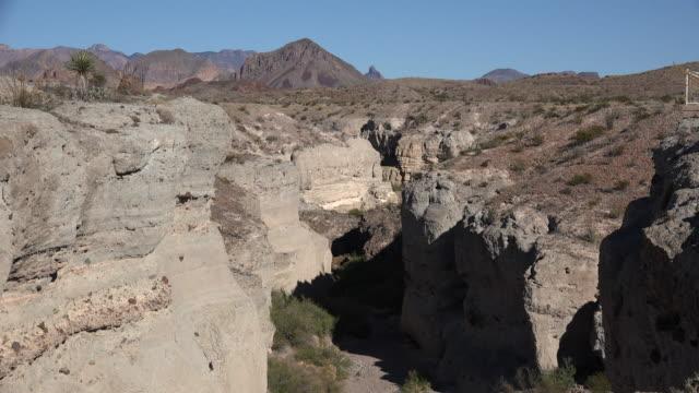 Texas Big Bend Tuff Canyon looking up canyon