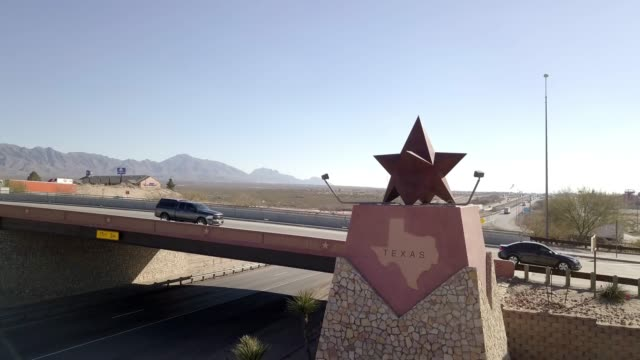 texas border sign in new mexico - texas stock videos & royalty-free footage