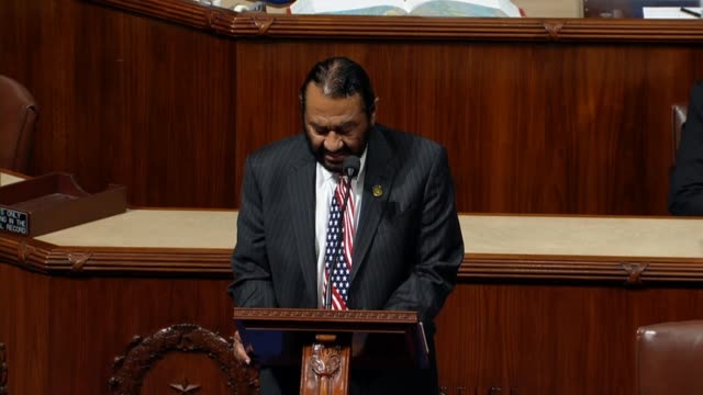 Texas Congressman Al Green reads Article 2 of a proposed impeachment resolution against President Donald Trump accusing Trump of being unmindful of...