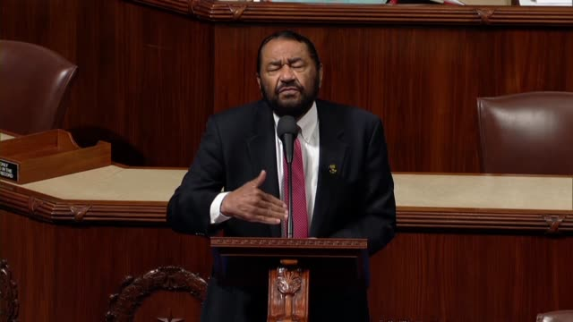 Texas Congressman Al Green says a day after the house adopted a resolution rejecting white nationalism and white supremacy triggered by a New York...
