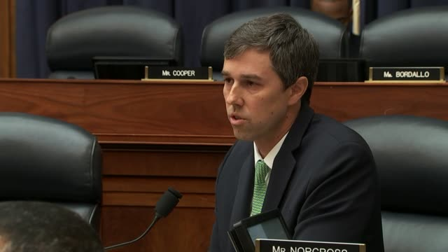 texas congressman beto o'rourke tells retired general david petraeus at a hearing of the house armed services committee that he has heard a better... - war in afghanistan: 2001 present stock-videos und b-roll-filmmaterial