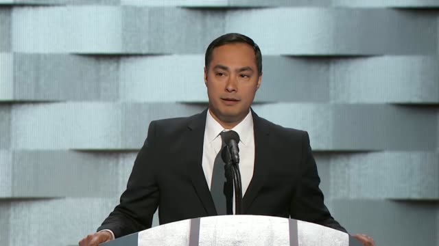 Texas Congressman Joaquin Castro tells story of his grandmother's struggles as a Mexican immigrant saying the fact the he stood on stage at the 2016...