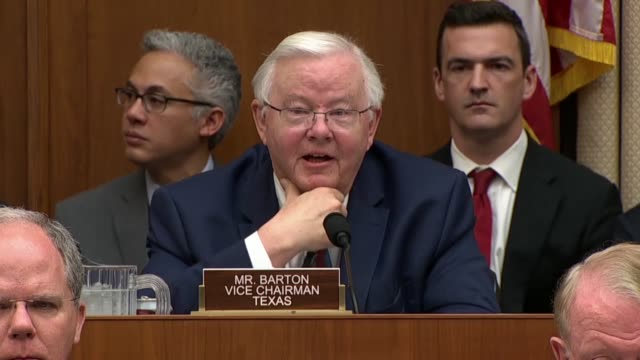 Texas Congressman Joe Barton jokes that a former Committee counsel was seated behind Facebook CEO Mark Zuckerberg at a hearing on data privacy asking...