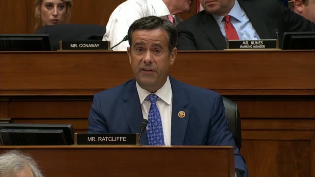 texas congressman john ratcliffe tells acting director of national intelligence joseph maguire eddie house select intelligence committee hearing on a... - complaining stock videos & royalty-free footage
