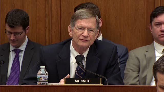 Texas Congressman Lamar Smith asks Deputy Attorney General Rod Rosenstein at a hearing of the House Judiciary Committee about whether special counsel...