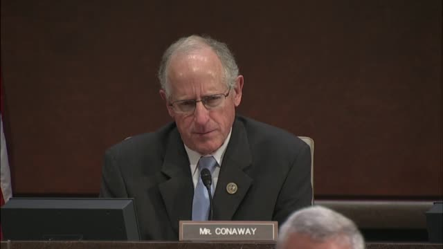 Texas Congressman Michael Conaway asks former Homeland Security Secretary Jeh Johnson at a hearing of the House Intelligence Committee inquiring into...
