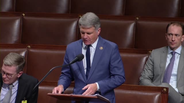 texas congressman michael mccaul says in debate on an amendment to the fiscal 2020 national defense authorization that a letter from an acting... - united states department of defense stock videos and b-roll footage