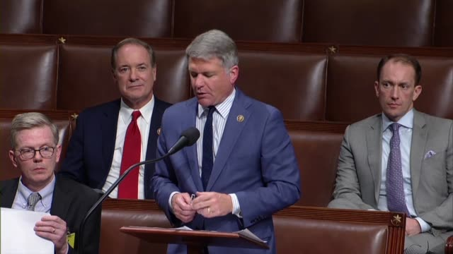 texas congressman michael mccaul says in debate on an amendment to the fiscal 2020 national defense authorization that its author seeks a repeal of... - legal defense stock videos & royalty-free footage