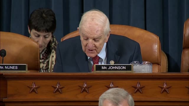 stockvideo's en b-roll-footage met texas congressman sam johnson tells commerce secretary wilbur ross at a house ways and means committee hearing that he strongly opposes tariffs on... - geallieerde mogendheden