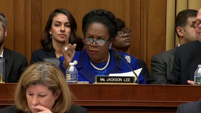 texas congresswoman sheila jackson lee asks attorney general jeff sessions at a house judiciary committee oversight hearing of the justice department... - attorney general stock videos & royalty-free footage