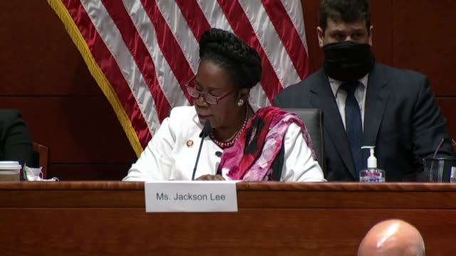 texas congresswoman sheila jackson lee disagrees with attorney general bill barr at a house judiciary committee hearing that the killing of george... - attorney general stock videos & royalty-free footage