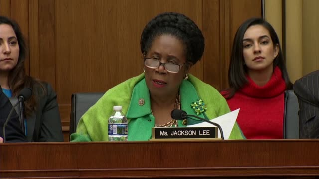 texas congresswoman sheila jackson lee tells google ceo sundar pichai at a house judiciary committee hearing congress applauded the stand for... - human back stock videos & royalty-free footage