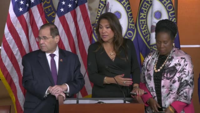 texas congresswoman veronica escobar of the house judiciary committee tells reporters at a news conference two days after public testimony by former... - crossing the threshold stock videos & royalty-free footage
